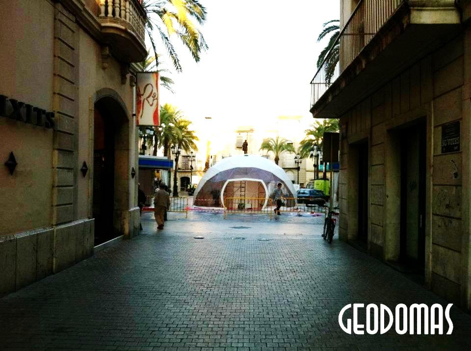 Portable Ø8m dome for Viu Comercial Mall | Vilanova, Spain