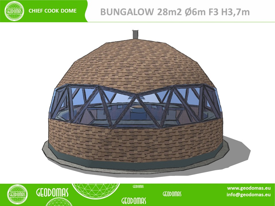 28m² BARBEQUE (BBQ) Grill Dome Ø6m F3 H3,5m   WOOD DOME