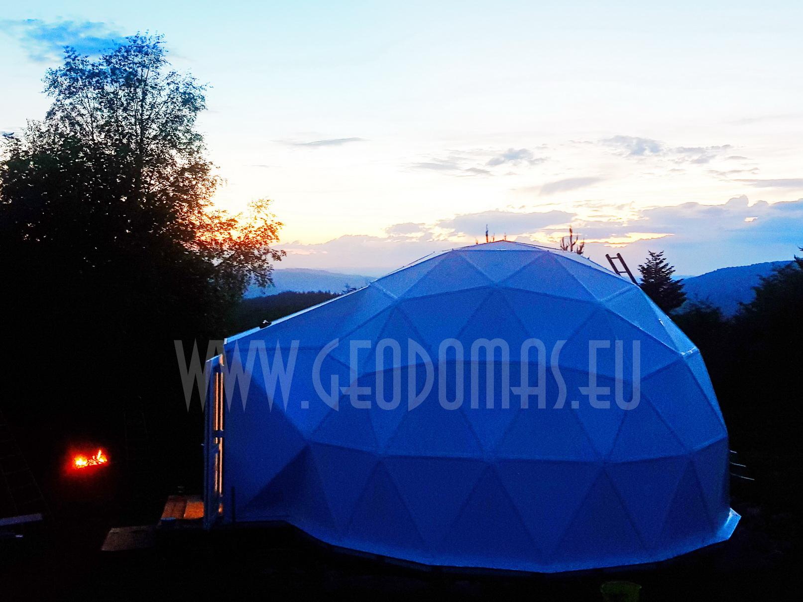 30m² LUXURY GLAMPING  Ø6m Dome  | Sandwich panel & Glass FAÇADE