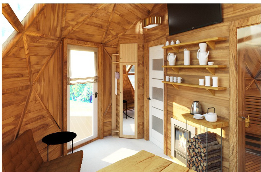 20m2 Sauna Dome Ø5m Geodesic House Height 3,3m